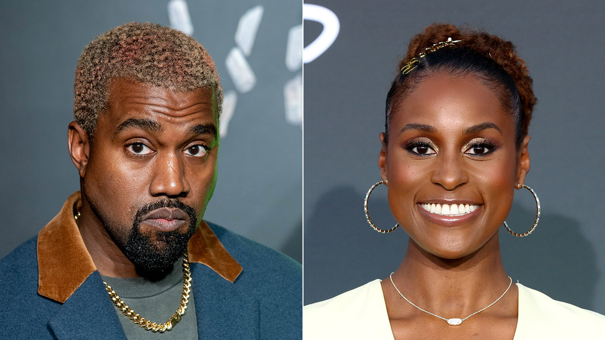Kanye West and Issa Rae