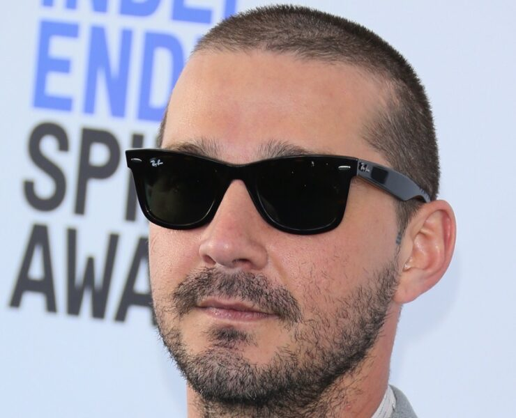 Shia LaBeouf arrives for the 35th Film Independent Spirit Awards