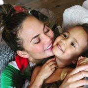 Chrissy Teigen and Luna