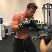 Chris Hemsworth shares shirtless boxing video