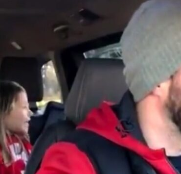 Little girl shocks dad with naughty James Blunt lyric