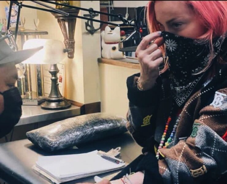 Madonna gets first tattoo in honor of her six children