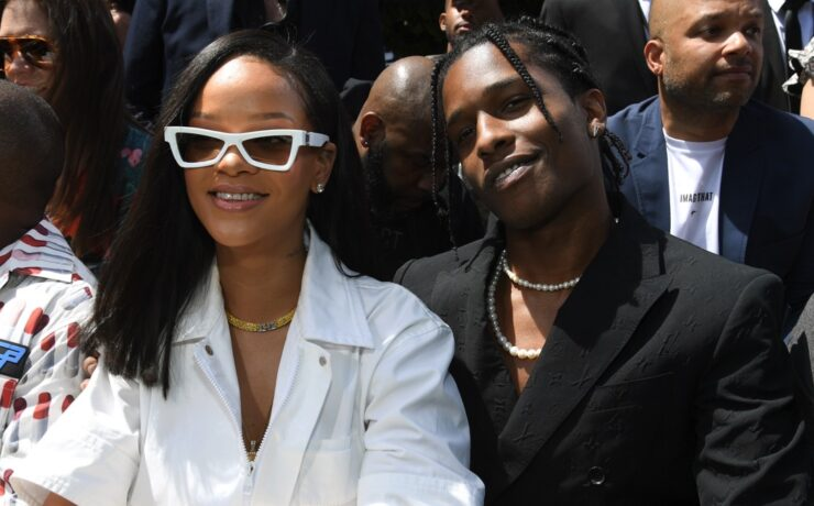 Rihanna and A$AP Rocky Louis Vuitton: Front Row - Paris Fashion Week - Menswear Spring/Summer 2019