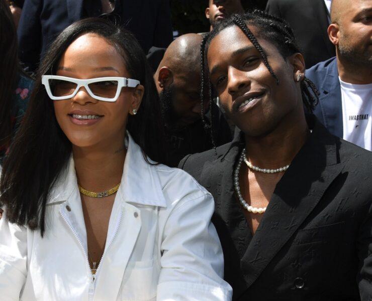 Rihanna and A$AP Rocky Louis Vuitton: Front Row - Paris Fashion Week - Menswear Spring/Summer 2019