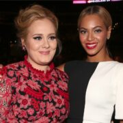 Adele and Beyonce The 55th Annual GRAMMY Awards - Backstage And Audience
