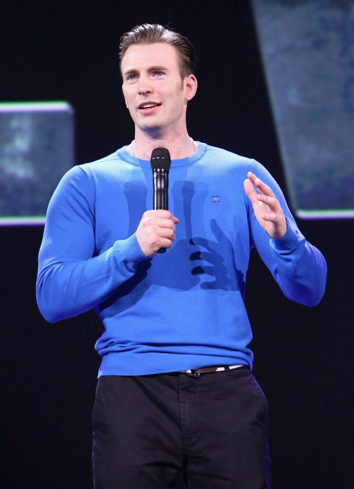"""Chris Evans """"Worlds, Galaxies, And Universes: Live Action At The Walt Disney Studios"""" Presentation At Disney's D23 EXPO 2015"""