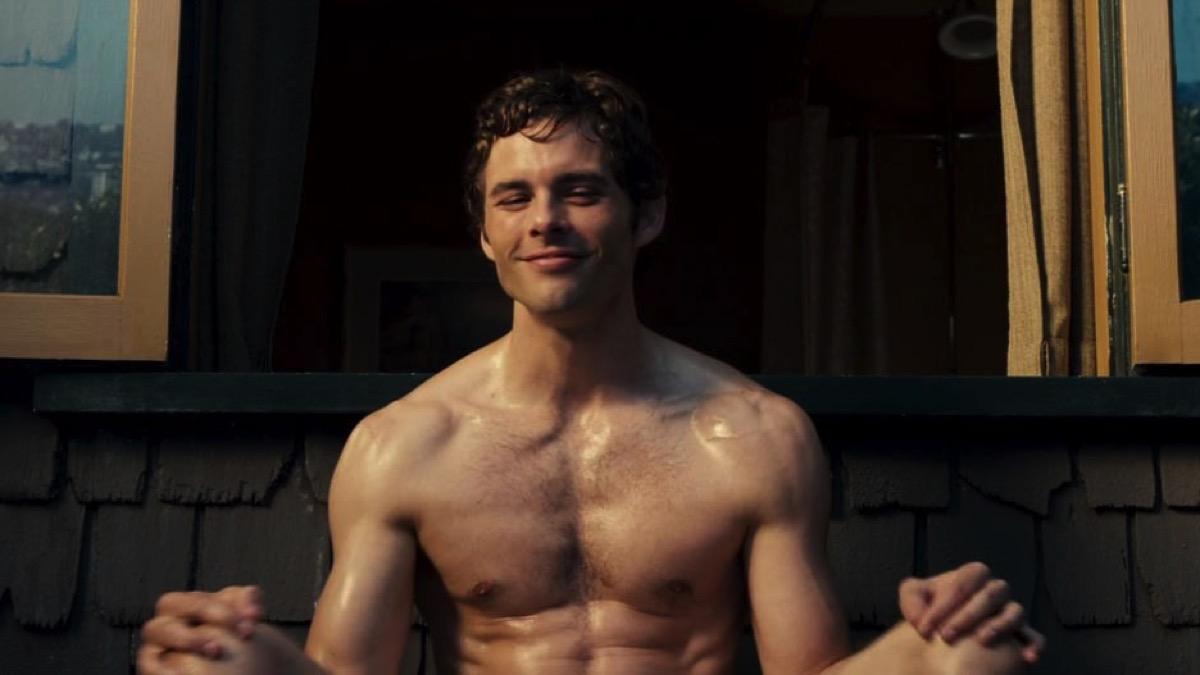 a shirtless James Marsden
