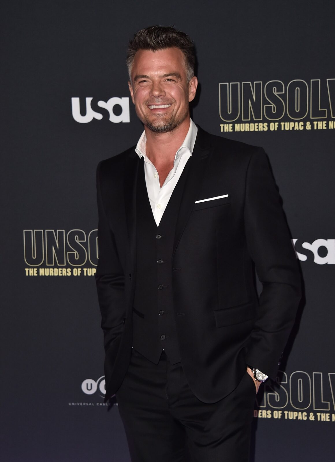 """Josh Duhamel Premiere Of USA Network's """"Unsolved: The Murders Of Tupac And The Notorious B.I.G."""" - Arrivals"""