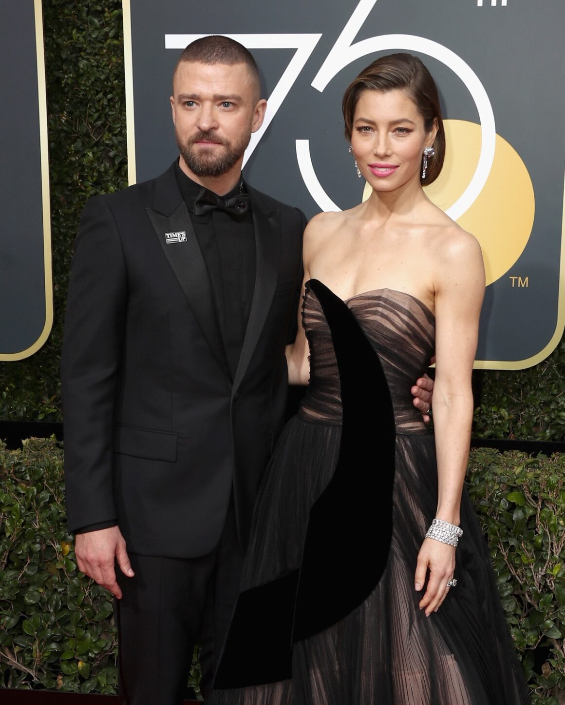 Justin Timberlake and Jessica Biel 75th Annual Golden Globe Awards - Arrivals