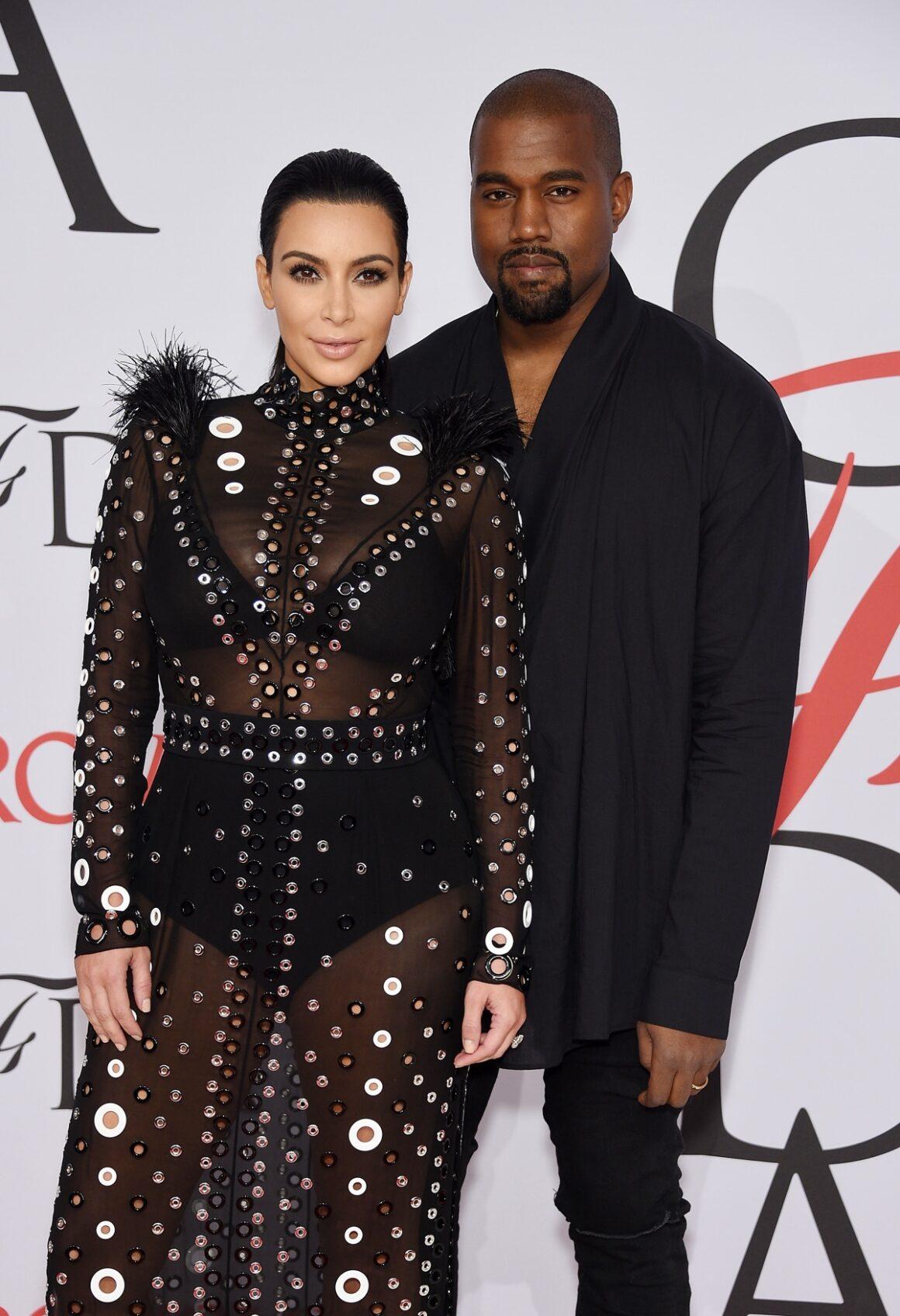 Kim Kardashian and Kanye West 2015 CFDA Fashion Awards - Inside Arrivals