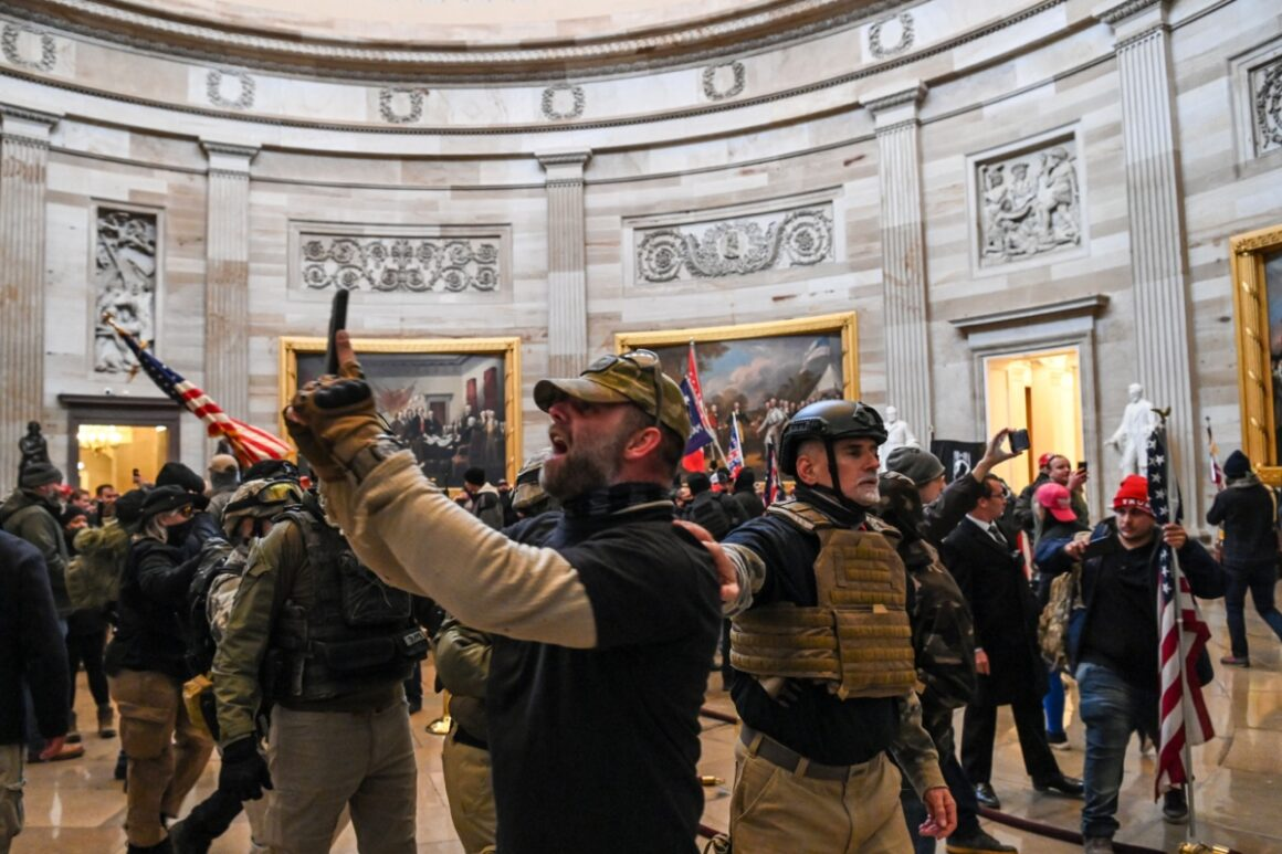 Terrorists broke into the Capitol building and assaulted police and security officers