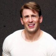 Chris Evans Shows Off His Buff Bod On Captain America Set