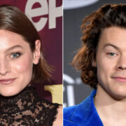 Emma Corrin and Harry Styles