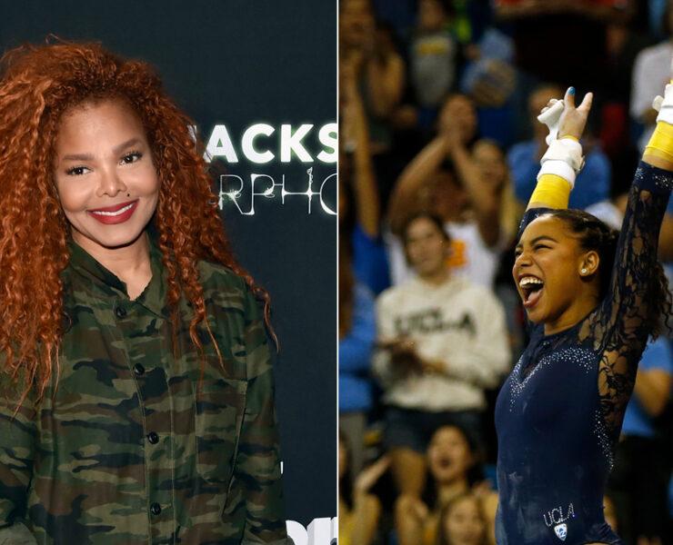 Janet Jackson and UCLA gymnast Margzetta Frazier