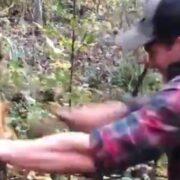 Madison Cawthorn beating up tree
